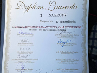 I nagroda na V międzynarodowym konkursie International Master Competition for Music Teachers!