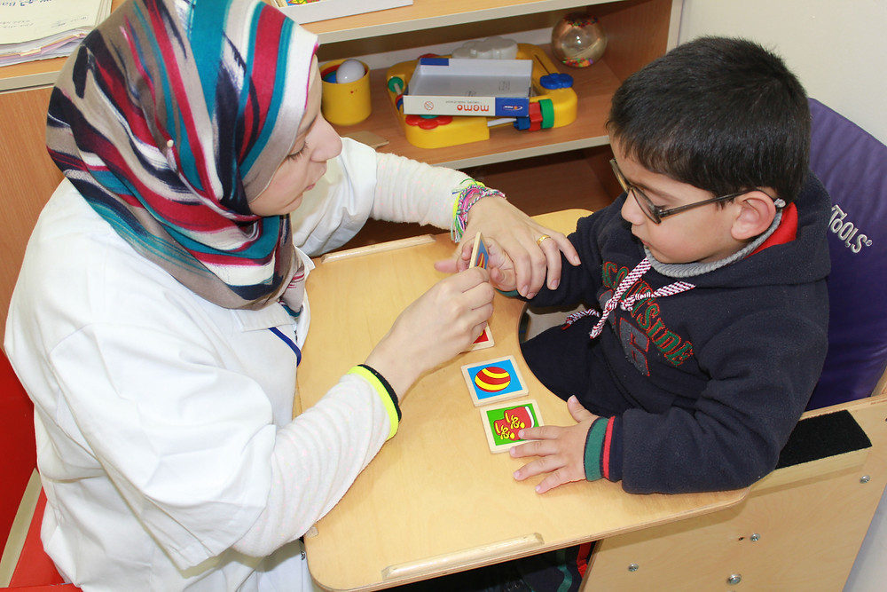 Yousef, receiving therapy at the Princess Basma Centre