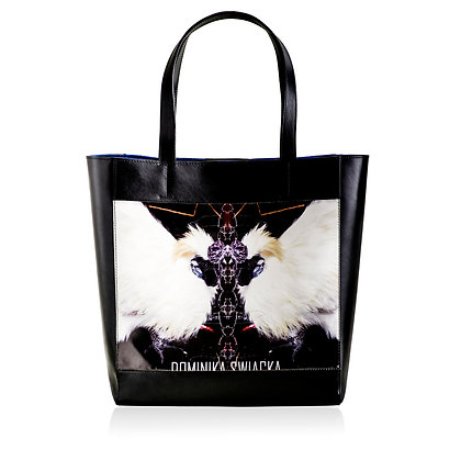GRAND POULET PRINTED LEATHER TOTE BAG