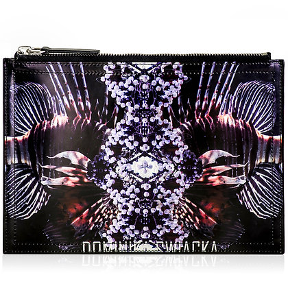 UNDERWATER PRINTED LEATHER CLUTCH BAG
