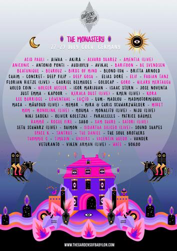 Monastery Festival 2019 Line up