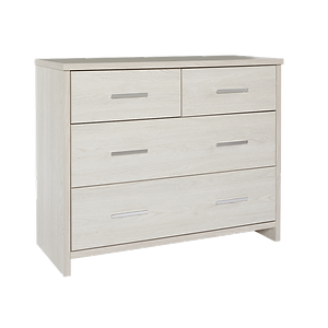 Atlas White Four Drawer Lowboy by Platform 10