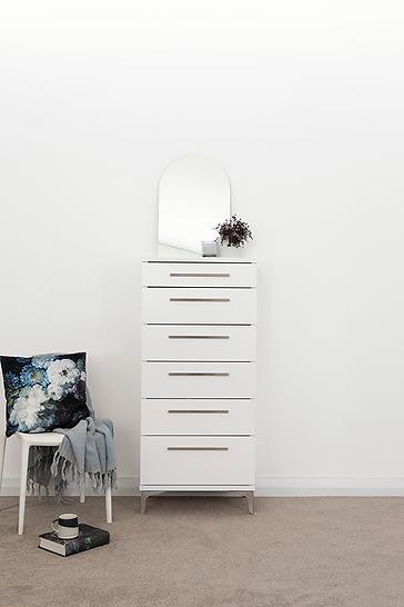 Aza White Bedroom Furniture by Platform 10