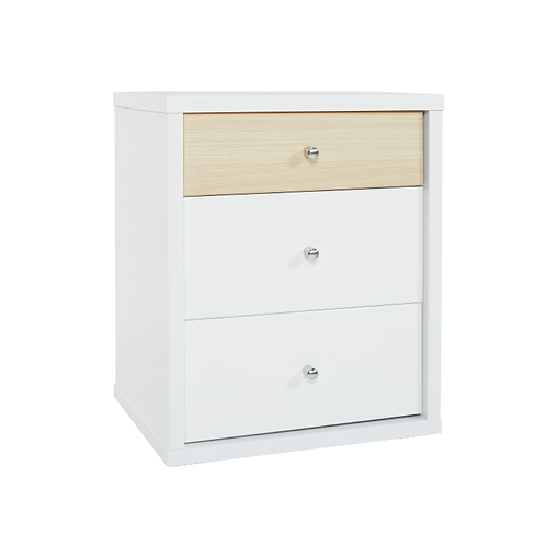 COSMO THREE DRAWER BEDSIDE