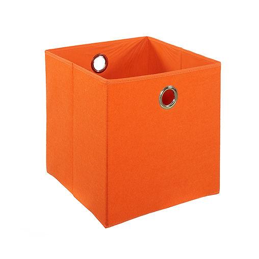 CUBO ORANGE FELT BOX