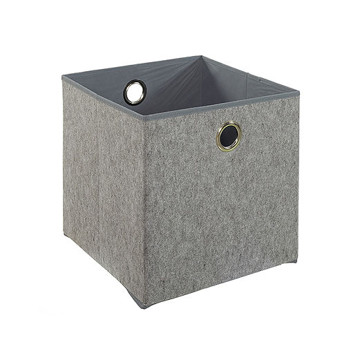 CUBO GREY FELT BOX