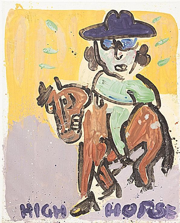 High horse, oil on canvas, 180 x 145 cm,
