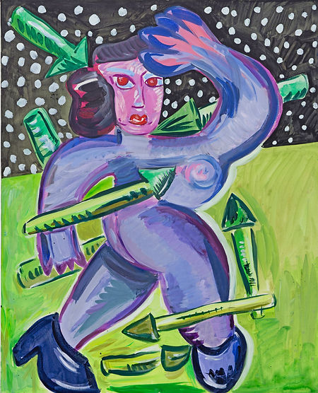 Under siege, acrylic on canvas, 100 x 80