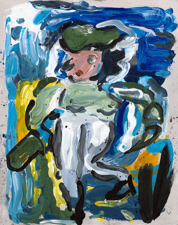 Jiggle woman, oil on canvas, 165 x 130 c
