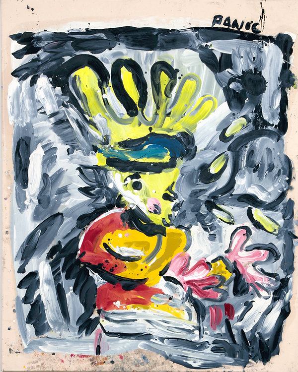 Panic, oil on canvas, 165 x 130 cm, 2017