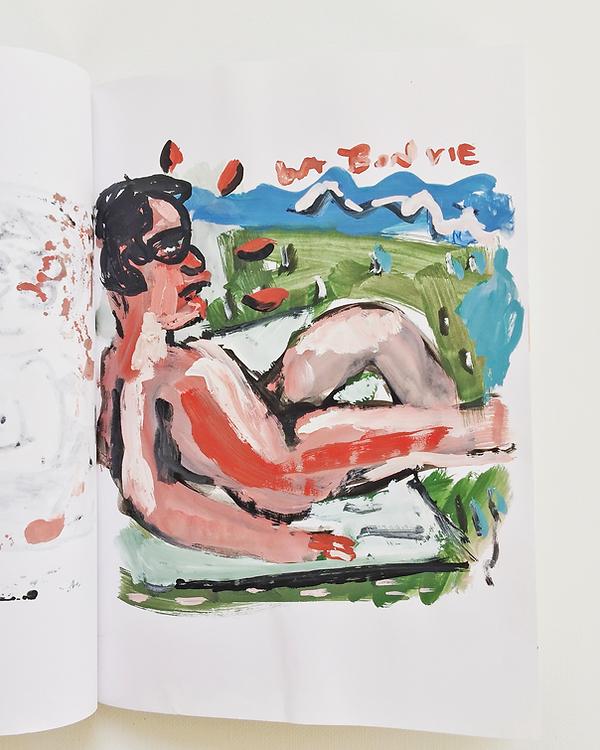 La bon vie, watercolour, sketchbook, 201