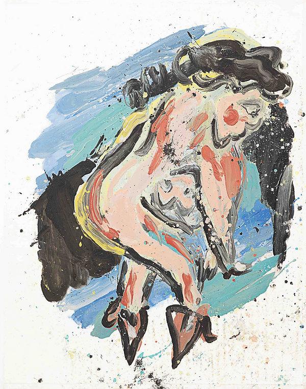 Skinny dipper, oil on canvas, 165 x 130