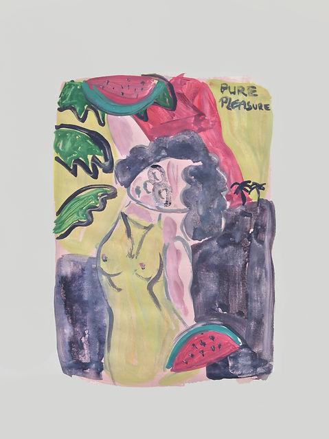 Pure pleasure, watercolour on paper, 201