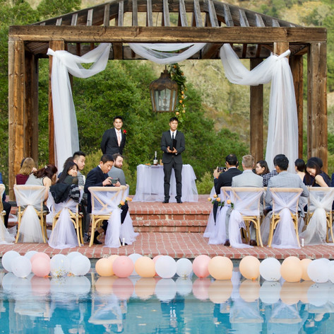 Intimate Wedding at the Pool