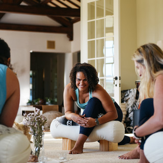 Yin Yoga in the Sunroom