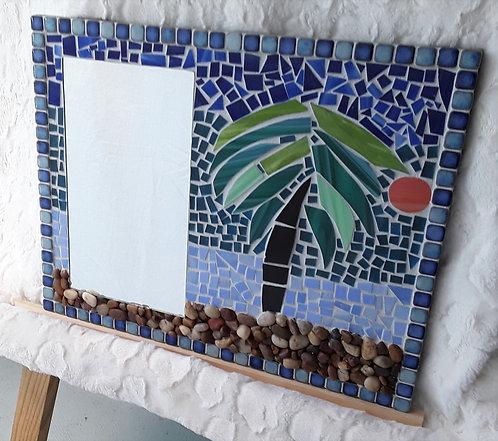 Palm Tree Mosaic Mirror