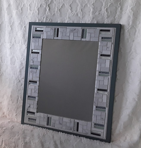 Carrara Marble mirror with accents