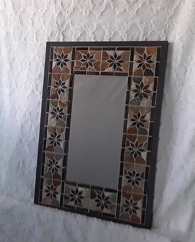 Elegant stone flower mirror