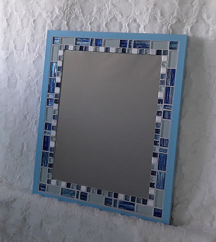 Beautiful blues in this stylish mirror