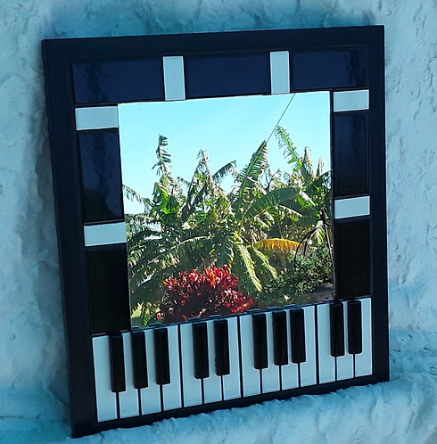 Piano Key Mirror