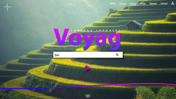 Interface principale Voyag
