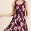 Thumbnail: Floral Burgundy Dress