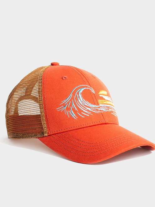 sunset swell trucker hat