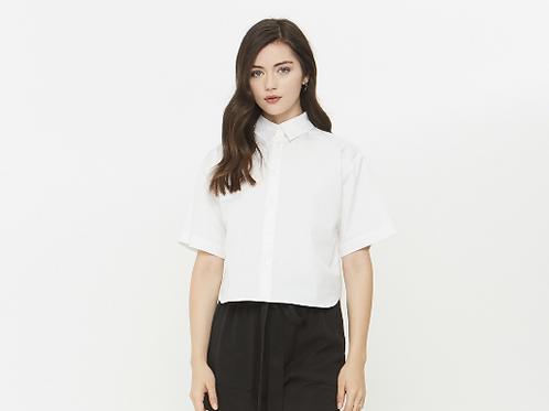 Crosby Cropped Button Up