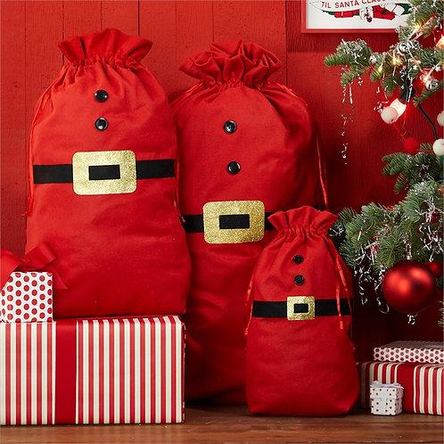 Santa Gift Bags Set of 3
