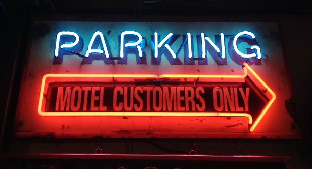 #166 - Parking Motel Customers Only Arrow