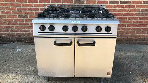 6 Burners Range Oven with Castors Falcon Dominator G2101OT