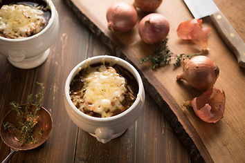 French Onion Soup with Thyme in classic
