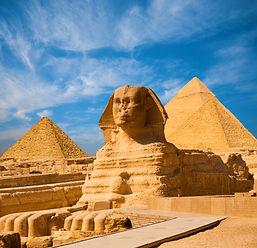 Egyptian Great Sphinx full body portrait