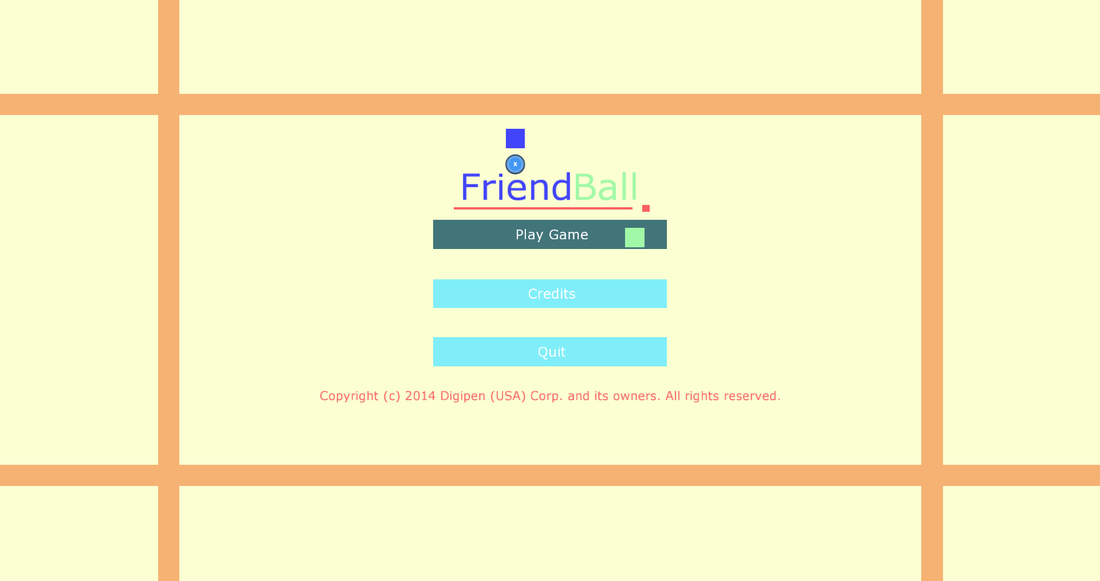 FriendBall Main Menu