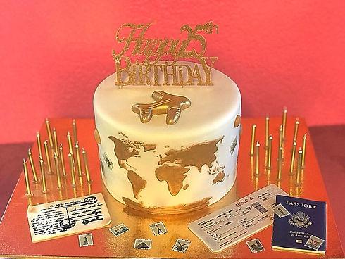 World traveler birthday 3d novelty cake (Mar '18)