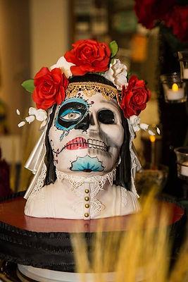 Dia de los muertos bust cake