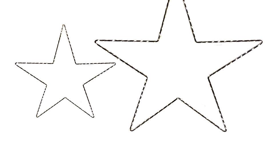 Звезда LED D30;40 см в комплекте, 2шт, шнур 30см, серебряный