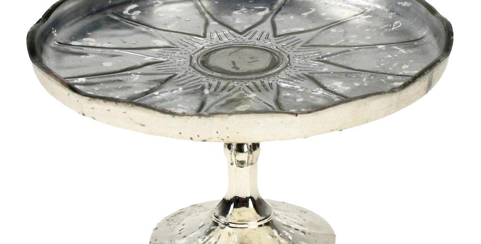 Подставка 13х22 см, стекло, серебряный