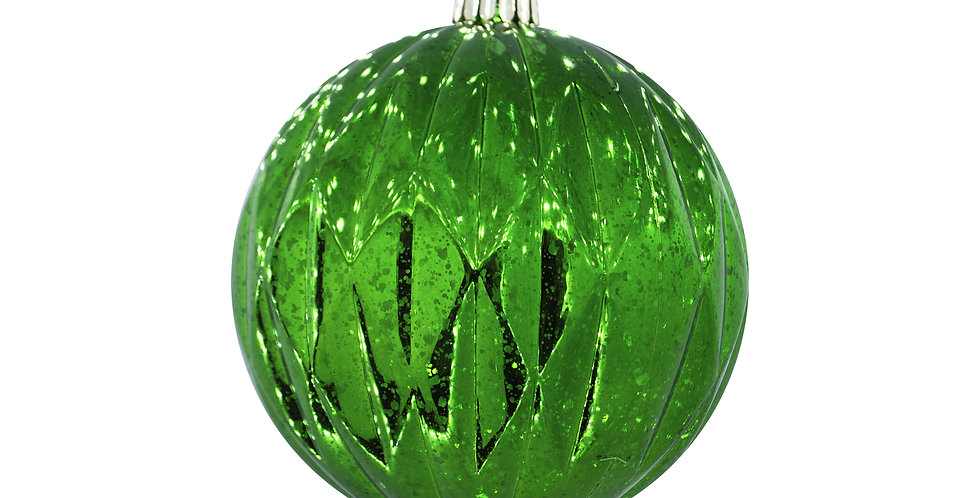 Шар D15 см, пластик, зелёный