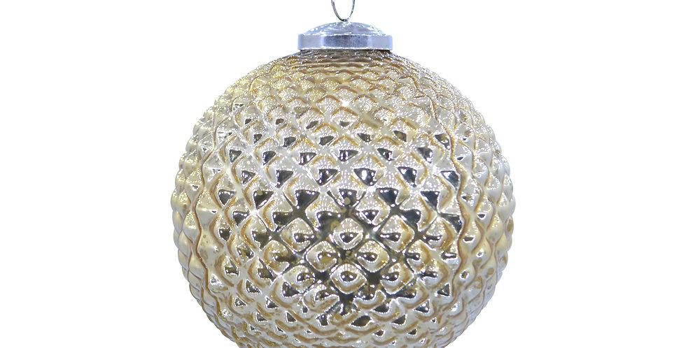 Шар D12 см, стекло, золотой/металлик