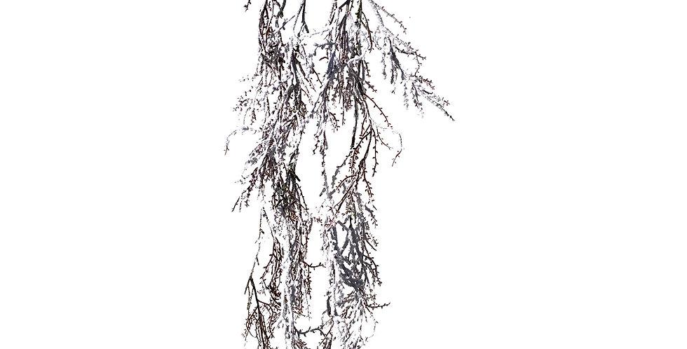 Ветка H89 см, заснеженная, белый