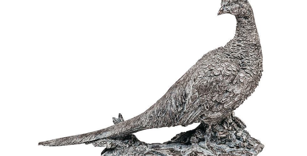 Фигура ФАЗАН 40х12х29 см, полирезин, серебряный