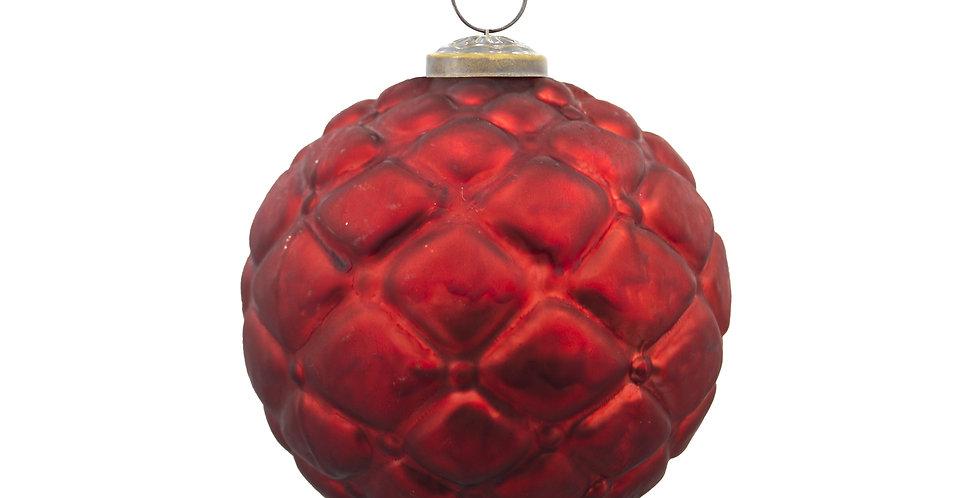 Шар D10 см, стекло, красный