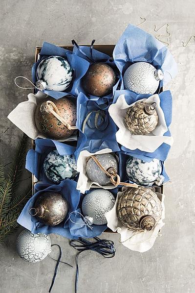 Warme kleuren kerstballen #kerst #kerstb