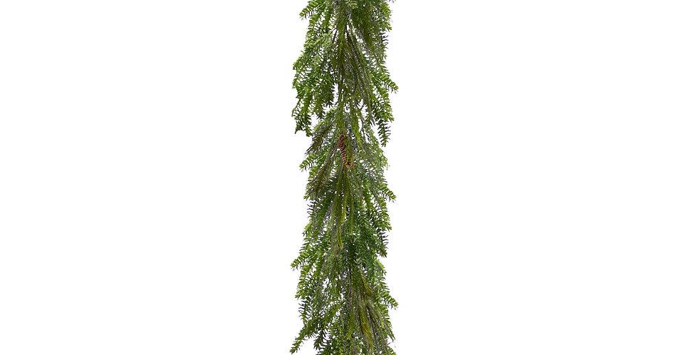 Гирлянда хвойная H150 см, подвесная, зелёный