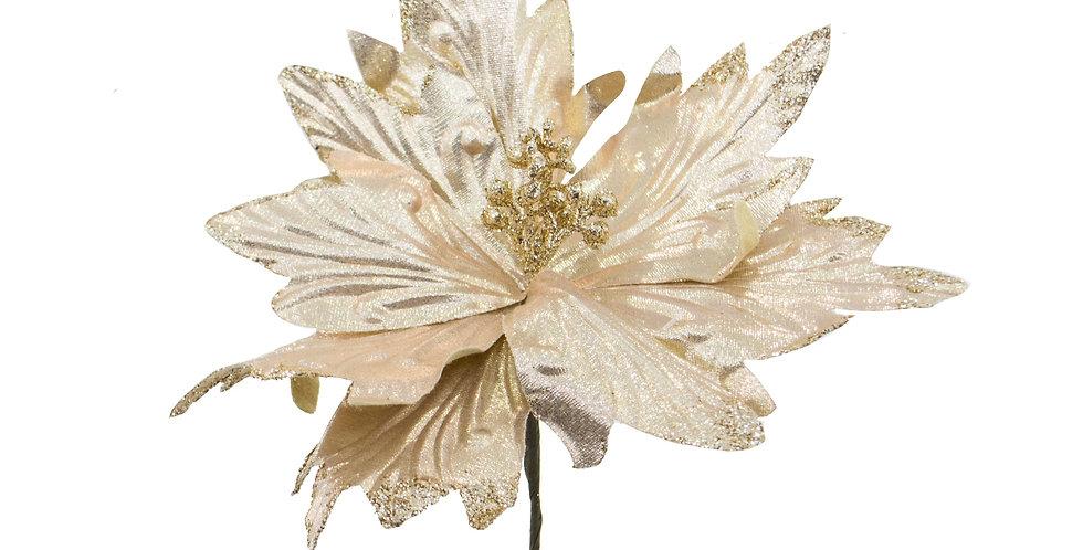 Цветок ПУАНСЕТТИЯ H21 см, бежевый