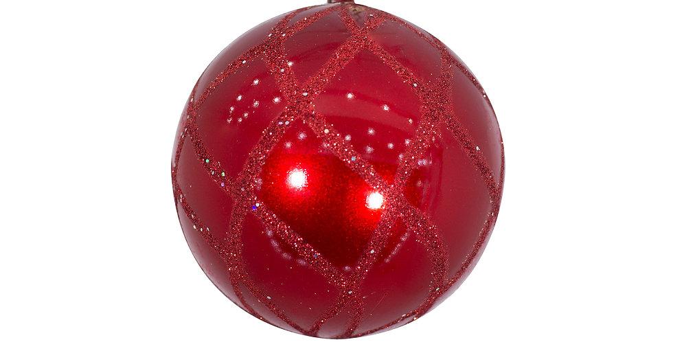 Шар D10 см, пластик, красный