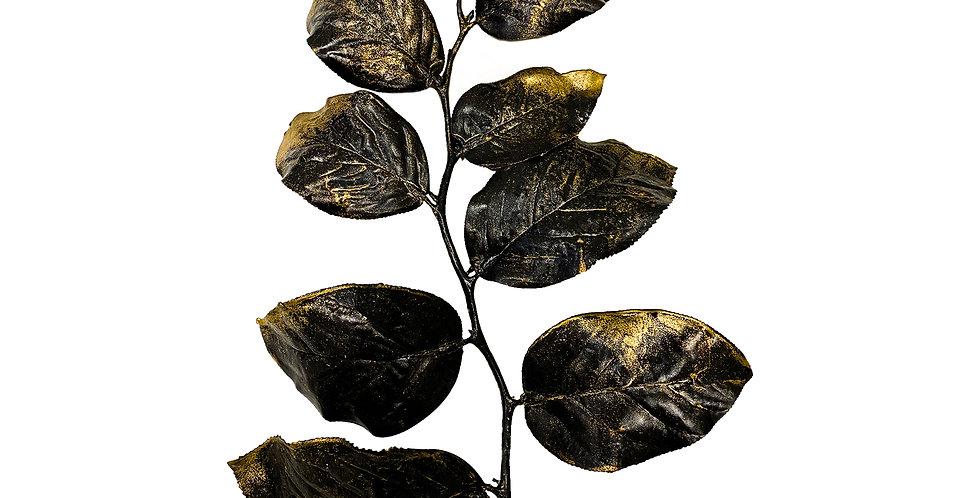 Ветвь гаультерии H76 см, пластик, золото с чёрным