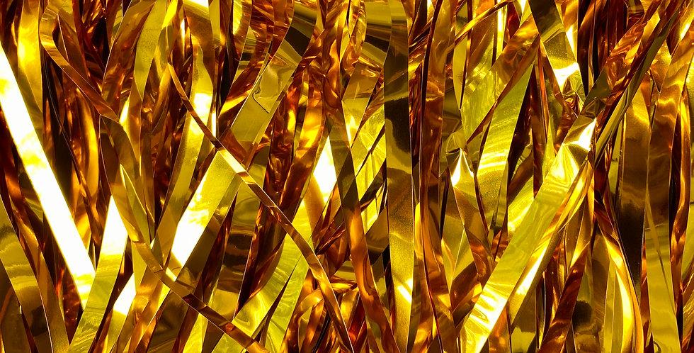 Новогодний дождик, полипропилен, золотой