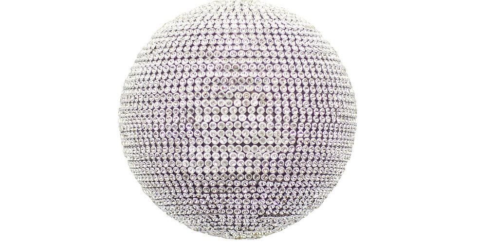 Шар D13 см, пластик, серебряный